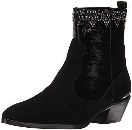 Donald J Pliner Women's Jessiespol Western Boot, Black, 8.5 M US
