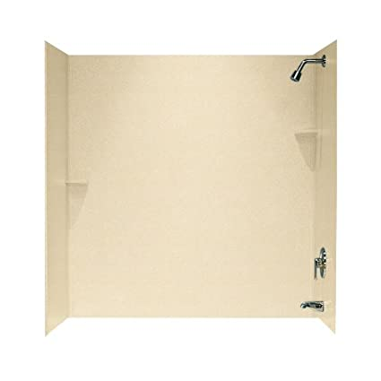 Swanstone SS-60-3-055 Solid Surface Bathtub Wall Panel System, 30 ...