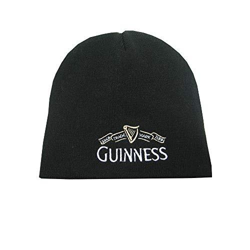 Guinness Beanie Hat with White Guinness Traemark Logo, Black Color (Unisex) ()