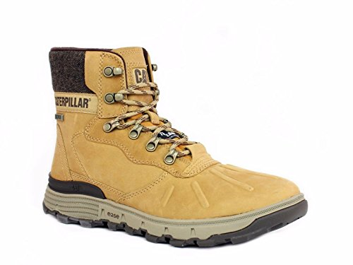 - Caterpillar Men's Stiction Hi Ice+ WP TX Work Boots, Honey Leather, 10 M
