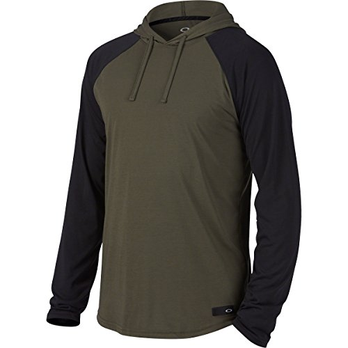 Oakley Men's Lakeside Ls Hooded Knit, Dark Brush, - Clothing Mens Oakley