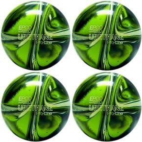 EPCO Duckpin Bowling ball- 4ウレタンpro-line – ライムグリーン、ホワイト&ネイビーボール  5 inch- 3lbs. 12 oz.