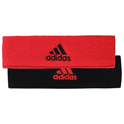 adidas Interval Reversible Headband, Hi-Res Red/Black, One Size