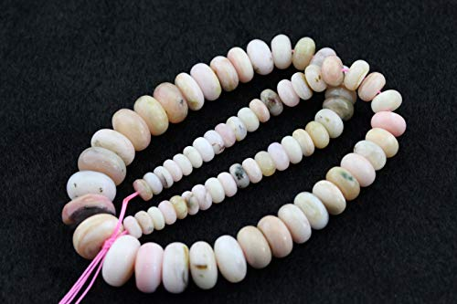 ShopForAllYou Design Making Smooth Pink Opal Graduated Rondelle Loose Beads Size 8mm~18mm ()