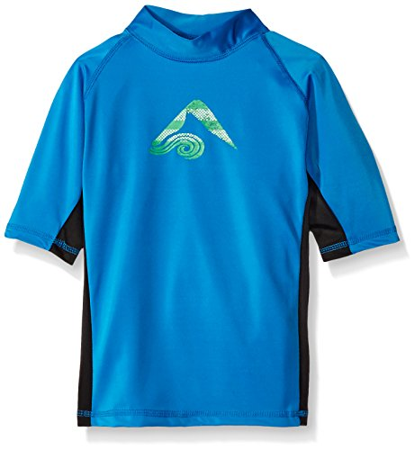 Kanu Surf Big Boys' Paradise UPF 50+ Sun Protective Rashguard, Halo Royal, Small (8) -