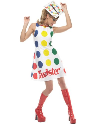 [Paper Magic Women's Adult Twister Dress And Hat,Twister,Medium] (Twister Game Costumes)