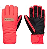 DC Apparel Franchise Womens Snow Glove, Fiery Coral, M