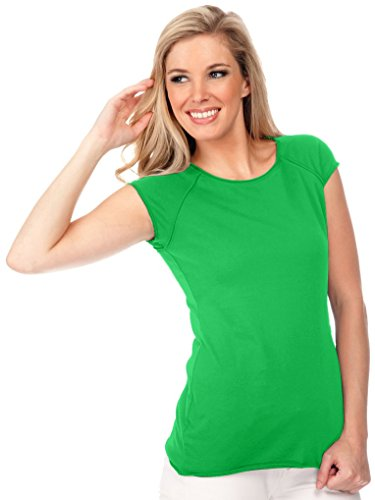Muscle Cap Sleeve Top Kelly Green M (Ladies Raglan Cap)