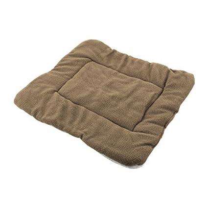 DealMux Pet velo Cat quatro Bed almofada macia Quente Dormir Cobertor cão Mat café Cor Branco
