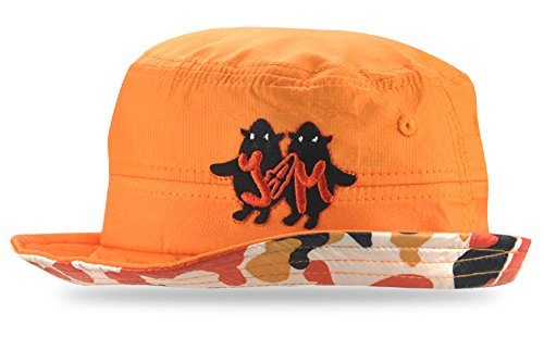 Roffatide Camo Bright Boys Bucket Hat Packable Fishing Sun Hat Kids Summer Cap Baby Girls boonie Hat Sun Protection Orange