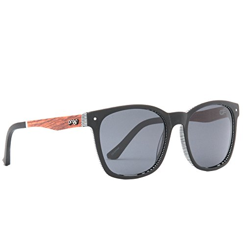 Proof Scout Eco - Handcrafted Plant-Based Plastic and Wood Polarized Sunglasses (Black, Gray - Wood Proof Sunglasses