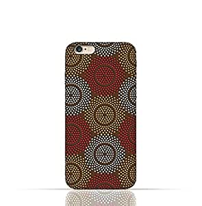 Apple iPhone 6/6S Silicone Case With Polka Dot Ethnic Pattern Design.