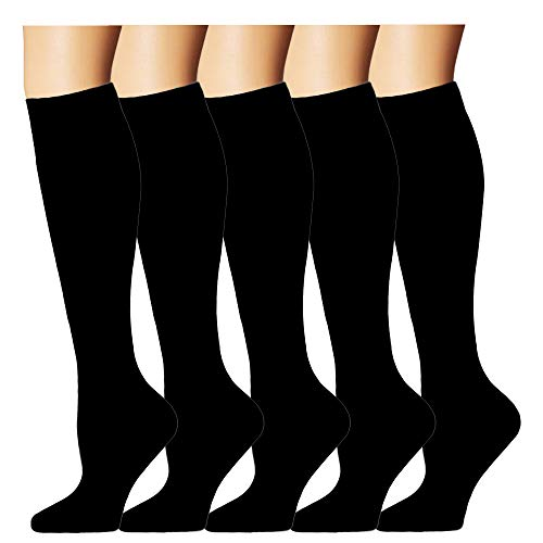 Compression Sock for Women & Men(5 Pairs) - Best Medical for Running, Athletic Sports, Crossfit, ()