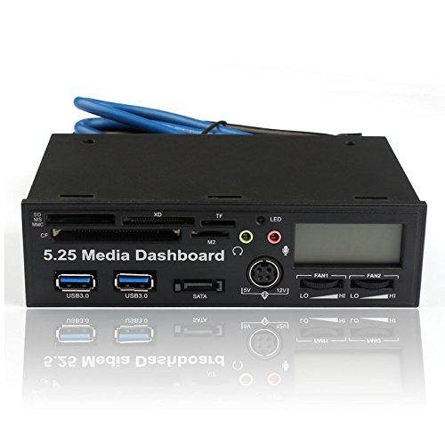 Kimloog Card Reader 5.25 Inch USB 3.0 High Speed Media Dashboard Front Panel PC KM259