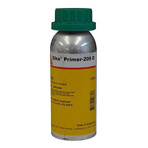 Sika Primer 209 D Polyurethane-Based Black Primer - 250ml Bottle by Sika Primer 209 D Polyurethane-Based Black Primer - 250ml Bottle
