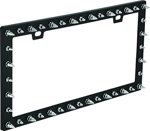 Bell Automotive 22-1-46117-8 Universal Chrome Spike Design License Plate - Studded Plate