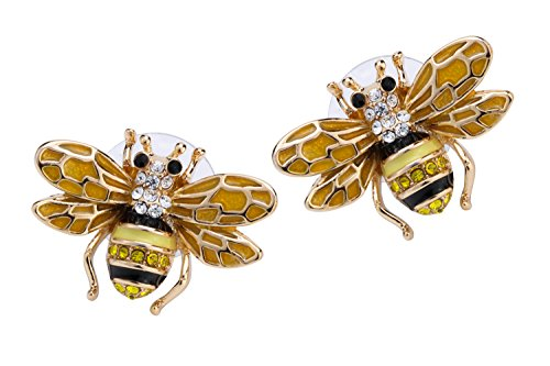 Ring Bee Crystal (YACQ Jewelry Women's Crystal Bee Stud Earrings)