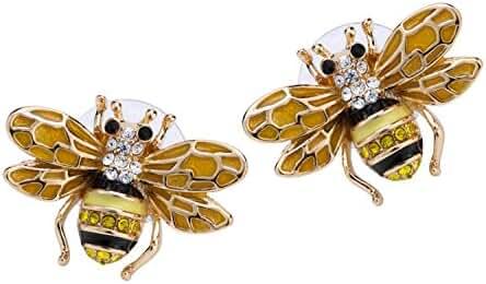 Angel Jewelry Women's Crystal Bee Stud Earrings