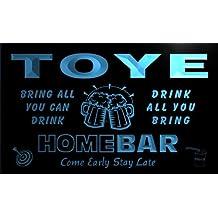q45434-b TOYE Family Name Home Bar Beer Mug Cheers Neon Light Sign