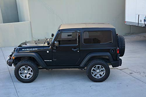 Jeep Hard Top Square Back JK 2 Door 2 Piece for 07-16 Jeep Wranglers ()