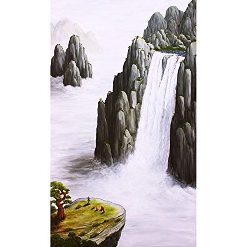Fine Art Print of Modern Chinese Landscape Painting – Locally Sourced from Artist Andrew Lee; Easily Framed for Wall Hanging, Eastern Asian Room, Oriental Bathroom Décor (Tranquility 13 x 19)