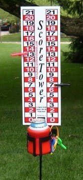 ScoreTower - Scoreboard & Drinkholder for Bocce