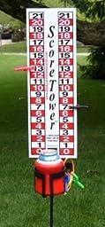 ScoreTower - Scoreboard & Drinkholder for Bocce Ball
