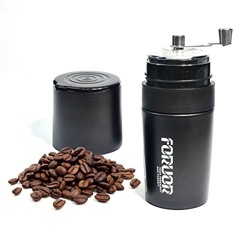 FORUOR Manual Coffee Grinder,Filter and Vacuum Cup All in One,Portable Coffee Brewer for Home,Office and Travel Gift