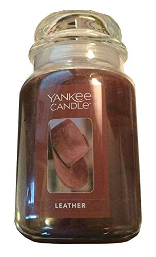 (Yankee Candle Leather Jar Candle 22 oz.)