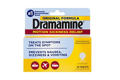 Dramamine Motion Sickness Relief Tablets Original Formula - 36 ct, Pack of 3 by Dramamine