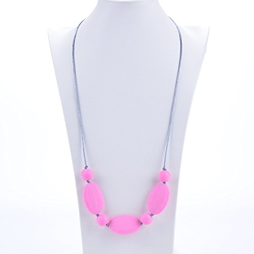 Silicone Teething Necklace BPA Free Strawberry