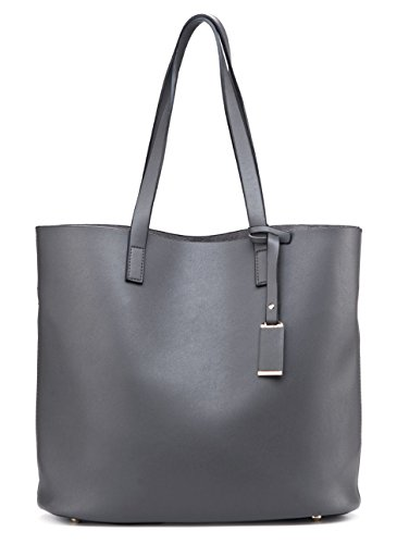 Grey Leather Handbags - 2