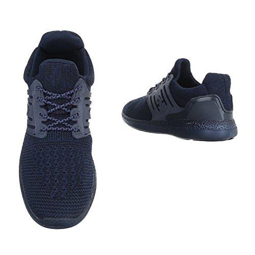 Ital-Design - Zapatillas altas Hombre azul oscuro