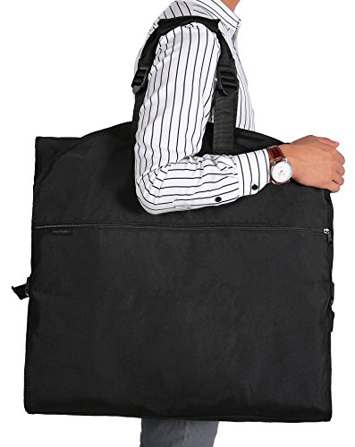 "Magictodoor 60"" Garment Bag Tri-Fold Gown Length w/Haning Hook Large Pocket from Magictodoor"