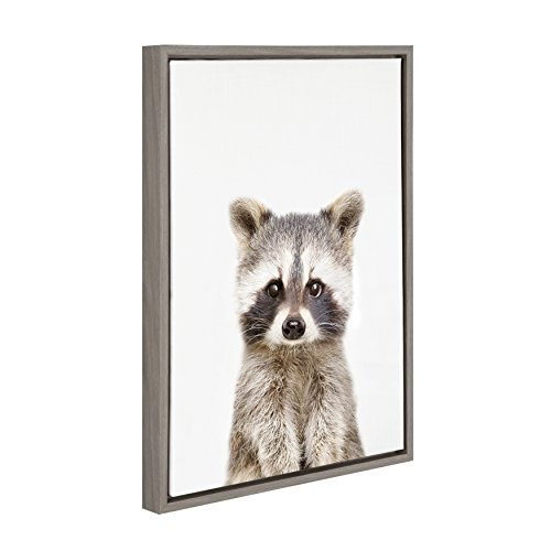 adc8a0e361ef Kate and Laurel Sylvie Raccoon Framed Canvas Wall Art by Amy ...