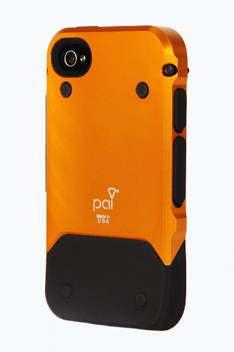 Pai Products Titan Protective Case for iPhone 4/4S - Retail Packaging - Orange