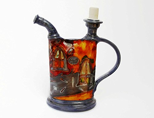 Pottery Jug, Earthen Pitcher with Hand Painted (Hand Painted Jug)