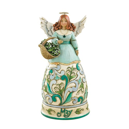 "Enesco Jim Shore Heartwood Creek May Angel Stone Resin Figurine, 6.25"" (Jim Creek Shore Heartwood 56)"