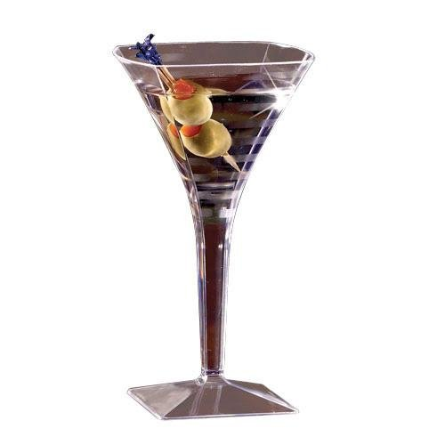EMI YOSHI, Squares 8 oz. Martini Glass, Clear, 72 per case ()