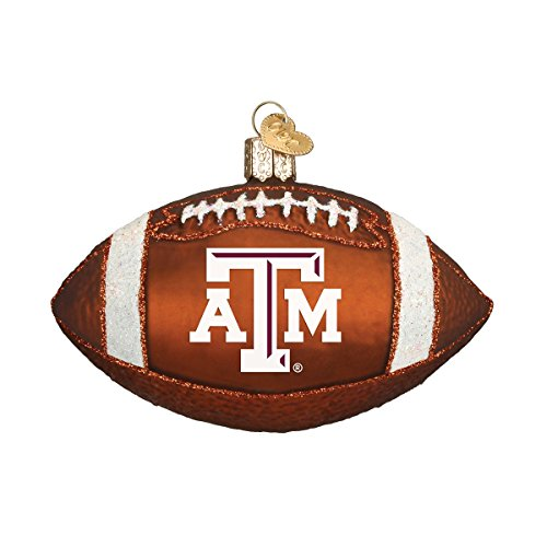 Old World Christmas Ornaments: Texas A&M Football Glass Blown Ornaments for Christmas Tree