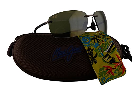Maui Jim Kumu Sunglasses Gunmetal w/Polarized Green Lens - Jim Scratch Maui Warranty