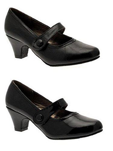 compensés le Noir Pointure PU confortables pour 5 bureau Mary bas talons Y620 35 À nbsp;Chaussures Jane femme pour 42 wPxTC8Uq