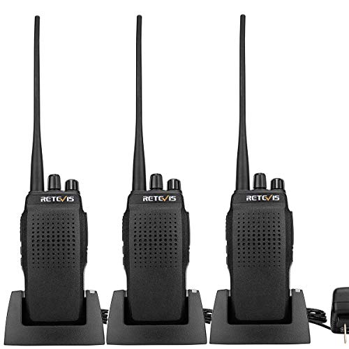 Retevis RT26 Two Way Radios High Power 3000 mAh Walkie Talkie UHF Long Range Sturdy Police Radio Hands Free Scan Handheld Transceiver(3 Pack)