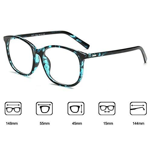 Hommes Femmes lunettes - Transparents Lunettes Cadre - Lunettes + Etui Verres Gratuit - hibote # 122804 Vert