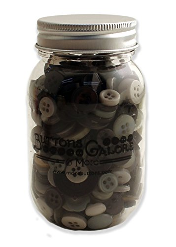 Buttons Galore Smokey Greys Buttons Mason Jar Grey Sewing Buttons