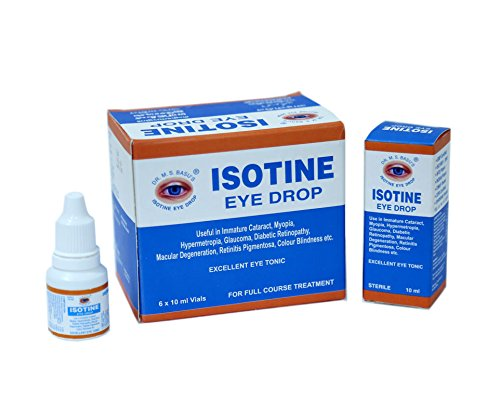Isotine Eye Tonic - For Complete Family - 6 Vails of 10 ml - Eye Tonic