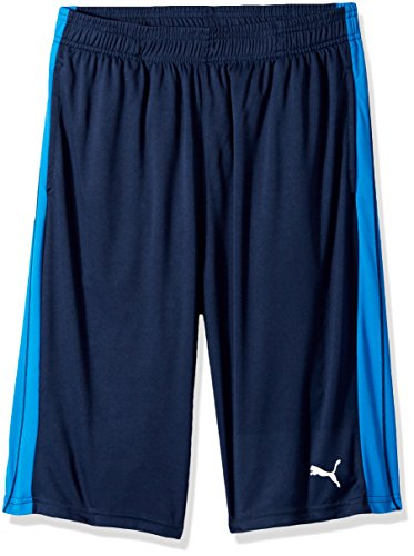 Boys Gym Short - PUMA Big Boy's Boys' Form Stripe Short Shorts, deep Navy, Medium