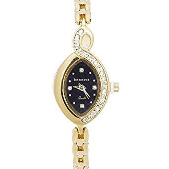 1a4cf0800 Buy Designer American Diamond Studded Party Wear Chain Wrist Watch with  Black dial for Women/Girls by Kasa Times Online at Low Prices in India -  Amazon.in