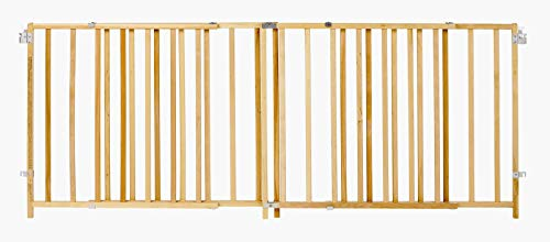 ''Extra-Wide Swing Gate'' by North States: Great for extra-wide openings, with no threshold and one-hand operation. Hardware mount. Fits openings 60'' to 103'' wide (27'' tall, Natural wood) by North States (Image #2)