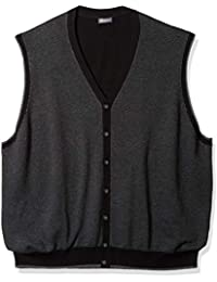 Men's Big and Tall Button Front Sweater Vest